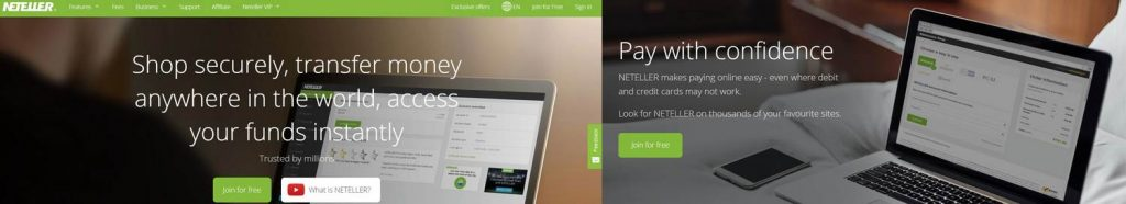 Neteller - best for online casinos low deposits