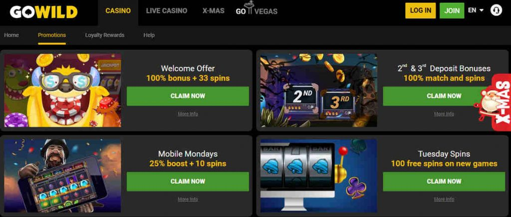 Go Wild Casino Withdrawal Time