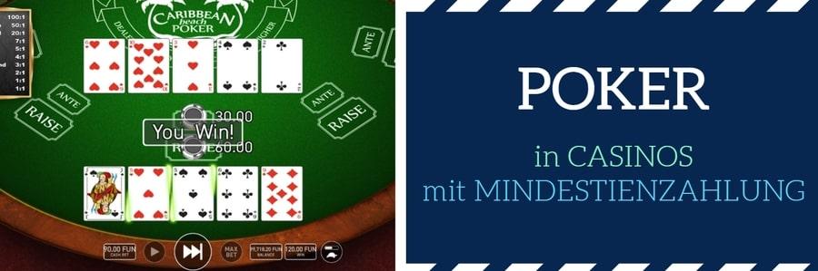 MINDESTIENZAHLUNG poker