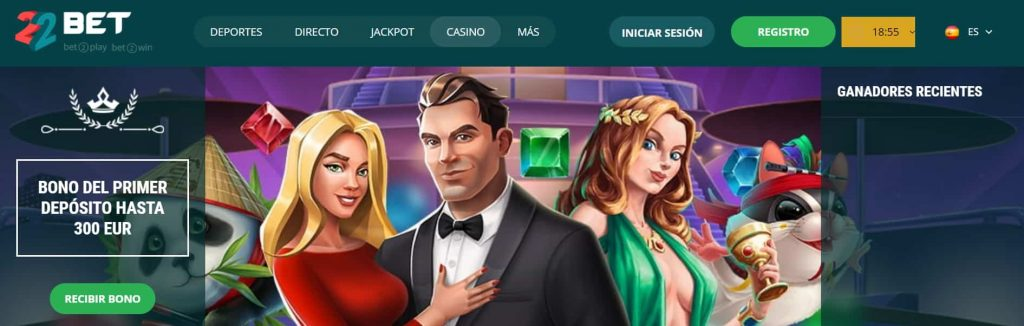 bonos de bienvenida de casino 22bet